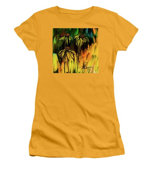 Women's T-Shirt (Athletic Fit) featuring the digital art Garden Flowers by Jim Vance