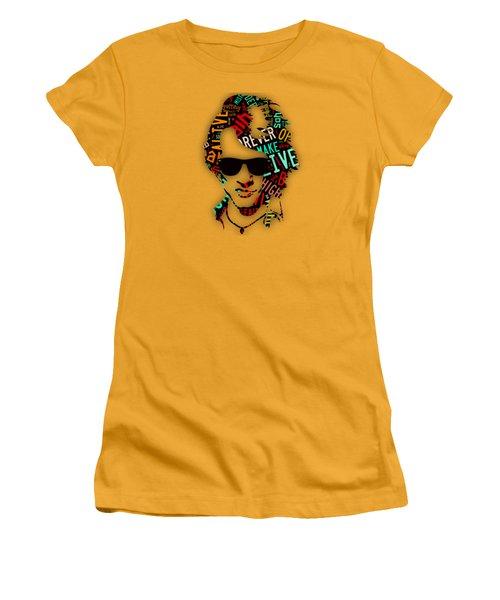 Jon Bon Jovi It's My Life Lyrics Women's T-Shirt (Junior Cut) by Marvin Blaine