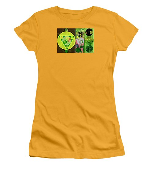 Women's T-Shirt (Junior Cut) featuring the digital art Abstract Painting - Myrtle by Vitaliy Gladkiy