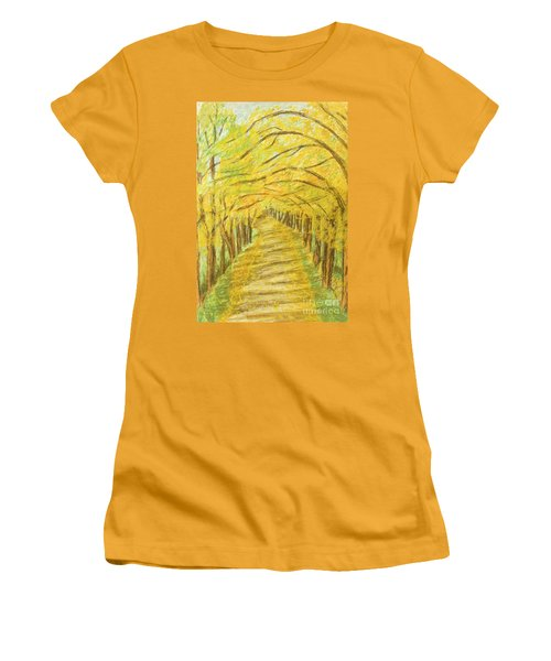 Autumn Landscape, Painting Women's T-Shirt (Athletic Fit)