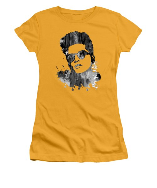 Bruno Mars Collection Women's T-Shirt (Athletic Fit)