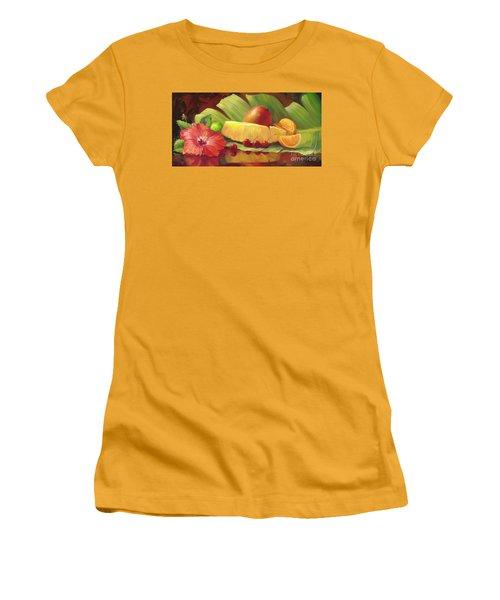 4 Cherries Women's T-Shirt (Junior Cut) by Laurie Hein