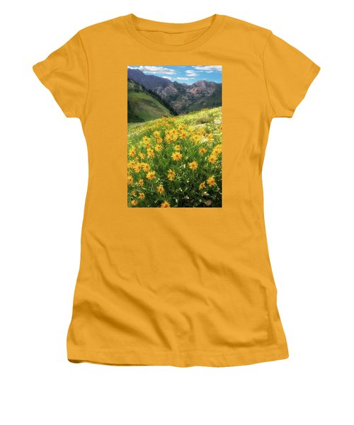 Albion Basin Wildflowers Women's T-Shirt (Athletic Fit)