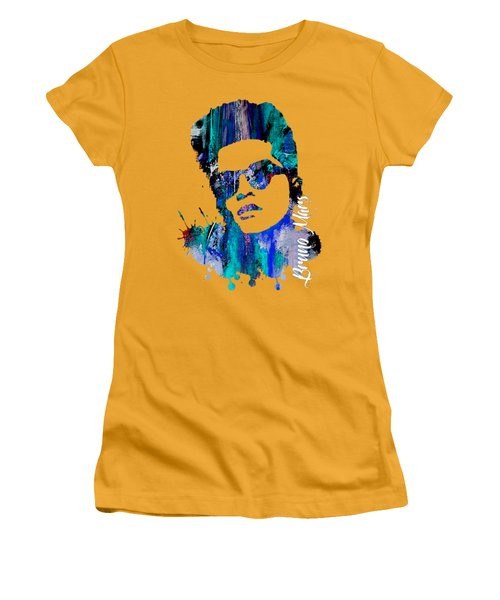 Bruno Mars Collection Women's T-Shirt (Junior Cut) by Marvin Blaine