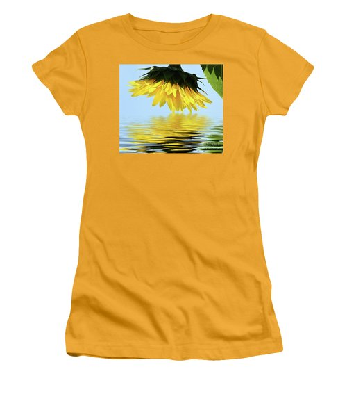 Nice Sunflower Women's T-Shirt (Athletic Fit)