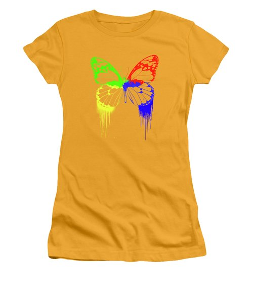 Paint Drips Women's T-Shirt (Athletic Fit)