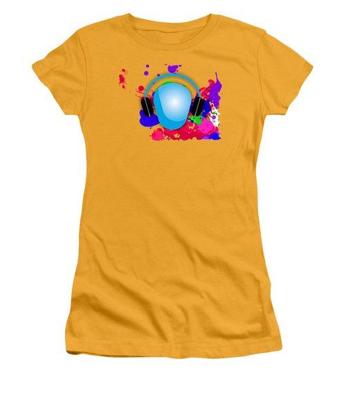 Music Women's T-Shirt (Junior Cut) by Marvin Blaine