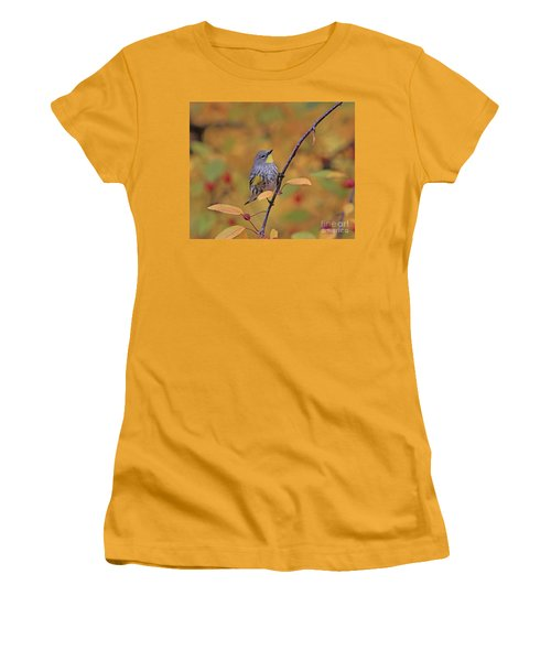 Yellow-rumped Warbler Women's T-Shirt (Athletic Fit)