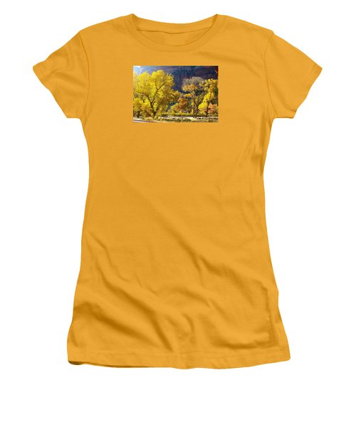 A Bright Gathering Of Trees Women's T-Shirt (Athletic Fit)