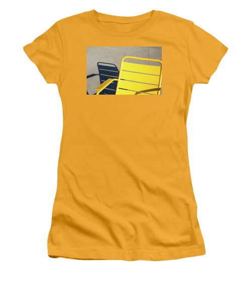 A Chair And Its Shadow Women's T-Shirt (Junior Cut) by Joseph S Giacalone