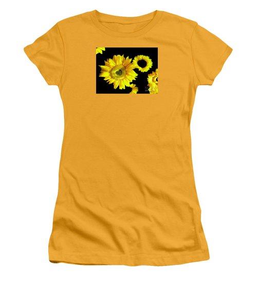 Women's T-Shirt (Junior Cut) featuring the photograph A Few Sunflowers by Merton Allen