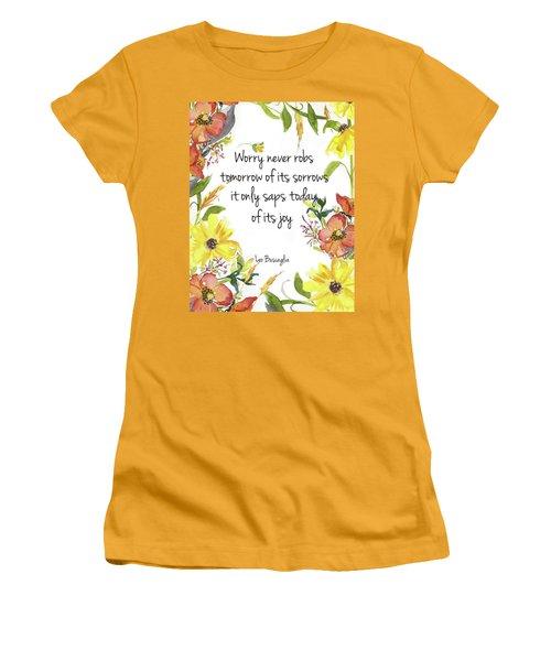 Women's T-Shirt (Junior Cut) featuring the digital art A Joy Filled Fall  by Colleen Taylor