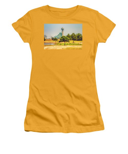Women's T-Shirt (Junior Cut) featuring the photograph A Quiet View by Joan Bertucci