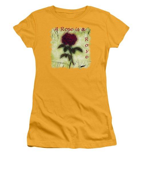 A Rose Women's T-Shirt (Junior Cut) by John M Bailey