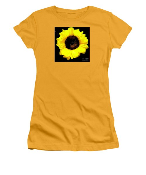 A Single Sunflower Women's T-Shirt (Athletic Fit)