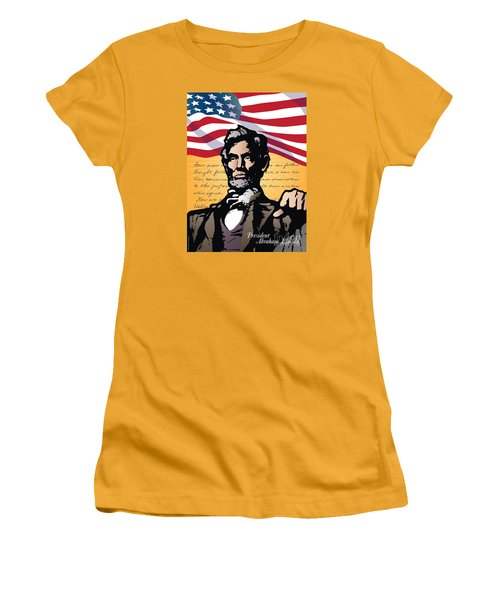 Abraham Lincoln, Gettysburg Address Women's T-Shirt (Athletic Fit)
