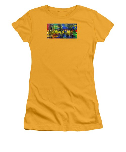 Abstract # 2  Women's T-Shirt (Junior Cut) by Rich Franco