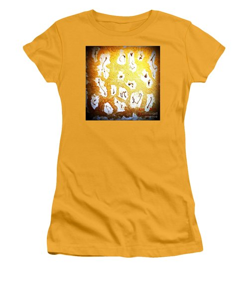 Bling Abstract Gold 1 Women's T-Shirt (Junior Cut) by Richard W Linford