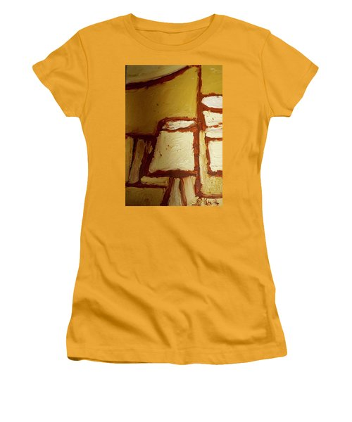 Women's T-Shirt (Junior Cut) featuring the painting Abstract Lamp Number 4 by Shea Holliman