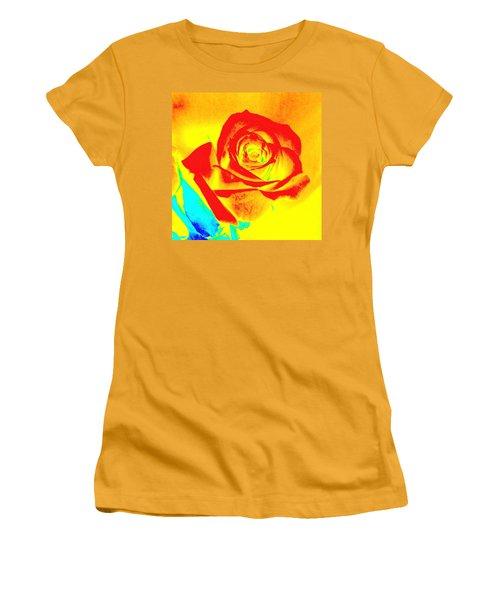 Abstract Orange Rose Women's T-Shirt (Junior Cut) by Karen J Shine