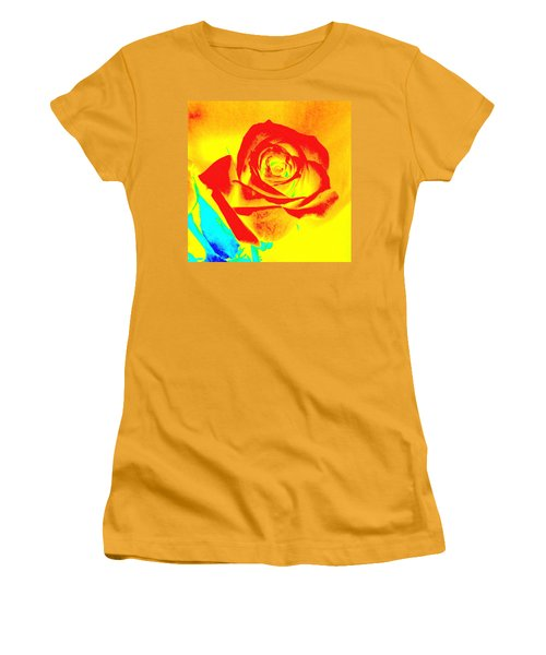 Abstract Orange Rose Women's T-Shirt (Athletic Fit)