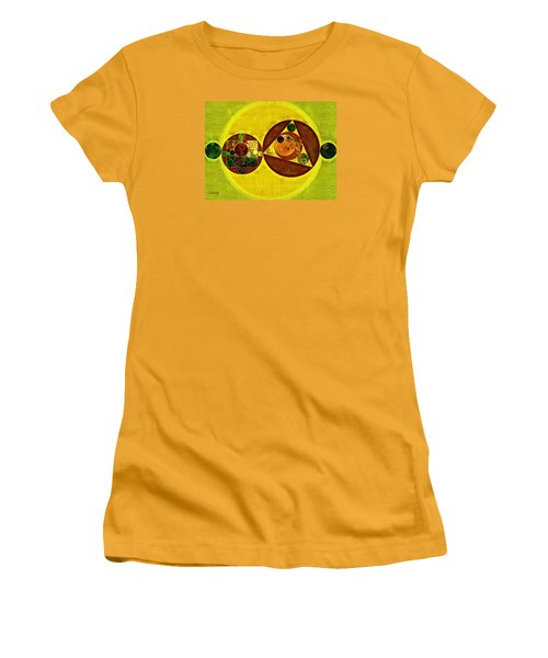 Abstract Painting - Citrine Women's T-Shirt (Junior Cut) by Vitaliy Gladkiy