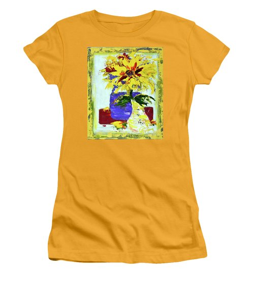 Abstract Sunflower Women's T-Shirt (Athletic Fit)
