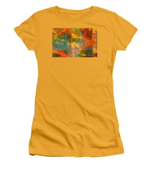 Abstract The World As It Is  Women's T-Shirt (Junior Cut) by Sherri's Of Palm Springs