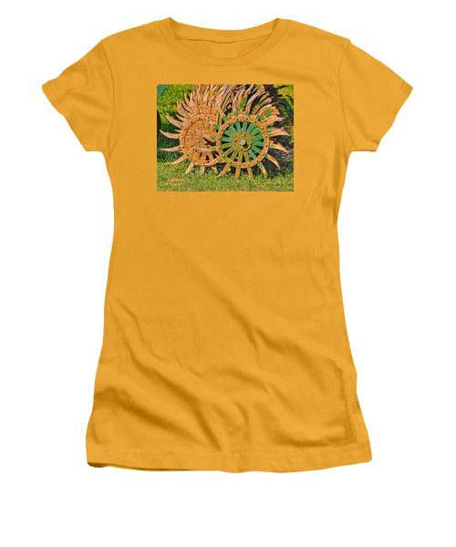 Women's T-Shirt (Junior Cut) featuring the photograph Ag Machinery Starburst by Trey Foerster