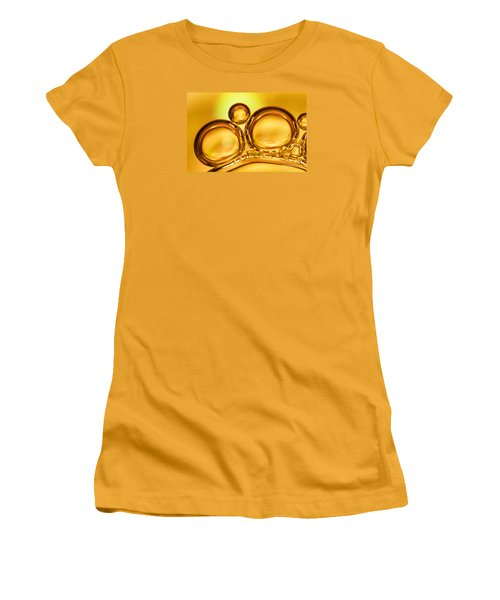 Air Bubbles Women's T-Shirt (Junior Cut) by Odon Czintos