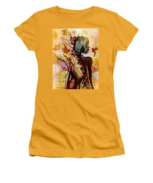 Alex In Wonderland Women's T-Shirt (Junior Cut) by Denise Tomasura