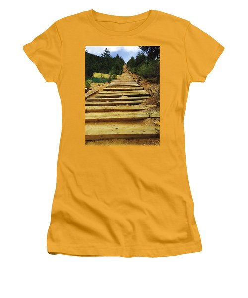 Women's T-Shirt (Junior Cut) featuring the photograph All The Way Up by Christin Brodie