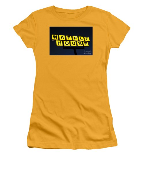 Always Open Waffle House Classic Signage Art  Women's T-Shirt (Athletic Fit)