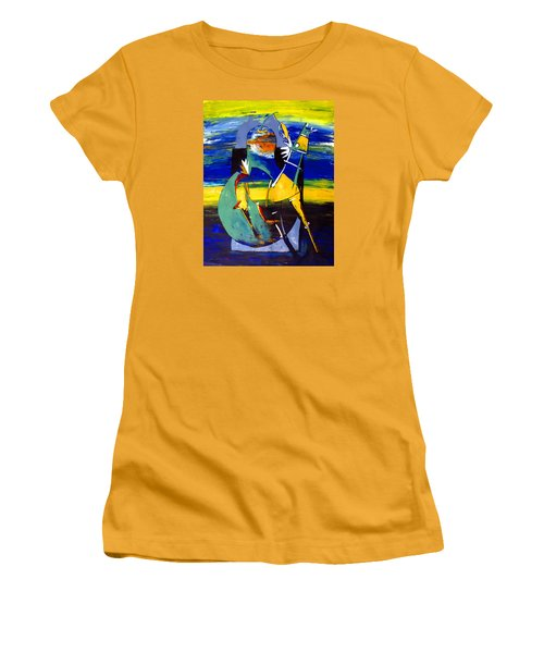 Ameeba 32- Horse And Pear Women's T-Shirt (Athletic Fit)
