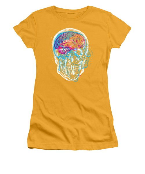 Anatomy Skull Women's T-Shirt (Athletic Fit)