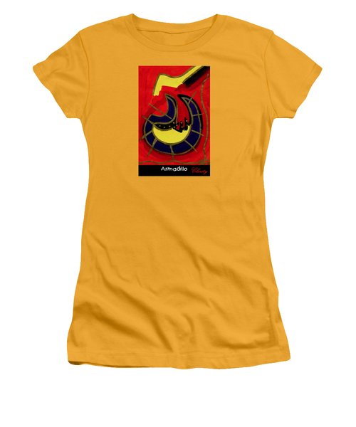 Women's T-Shirt (Athletic Fit) featuring the painting Armadillo by Clarity Artists