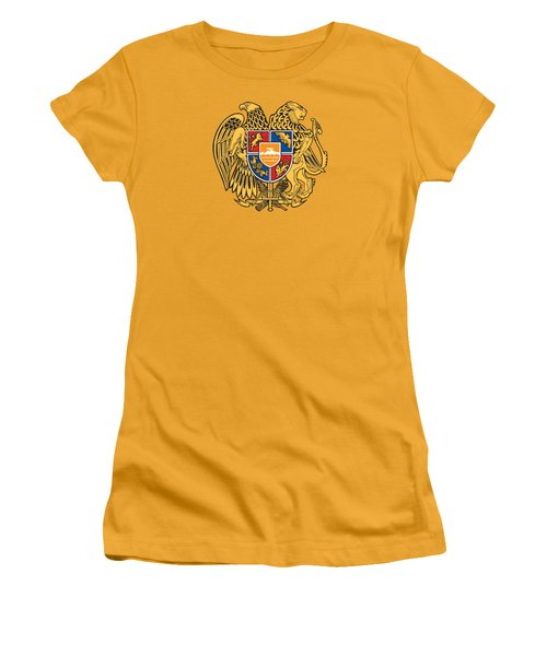 Armenia Coat Of Arms Women's T-Shirt (Junior Cut) by Movie Poster Prints