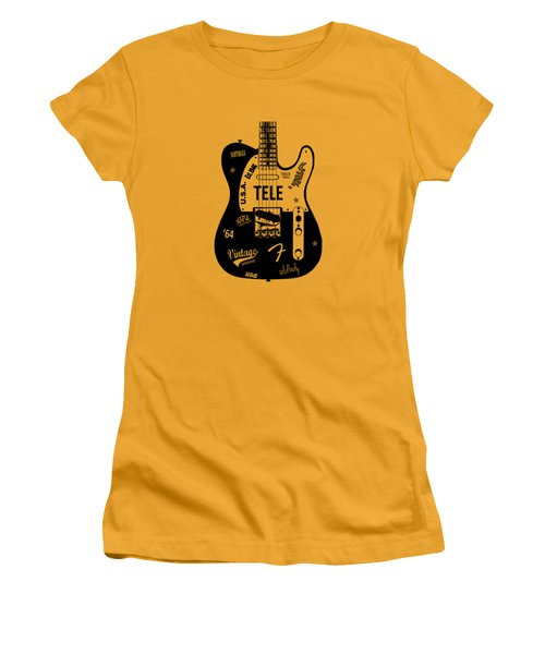 Fender Telecaster 64 Women's T-Shirt (Athletic Fit)