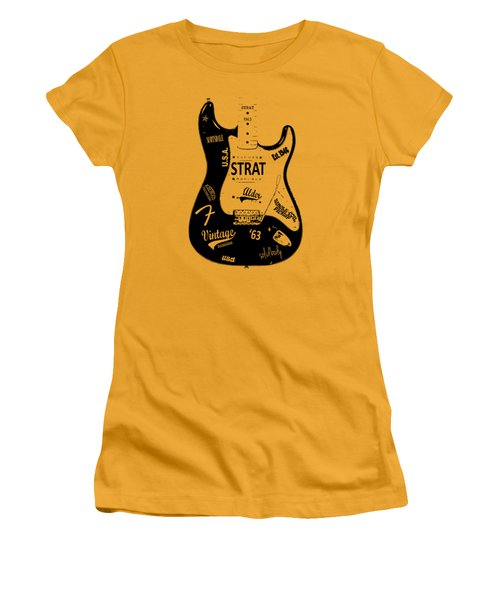 Fender Stratocaster 63 Women's T-Shirt (Athletic Fit)