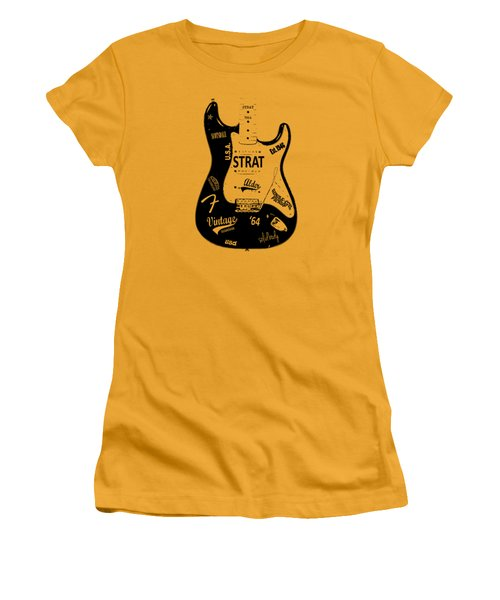 Fender Stratocaster 64 Women's T-Shirt (Athletic Fit)