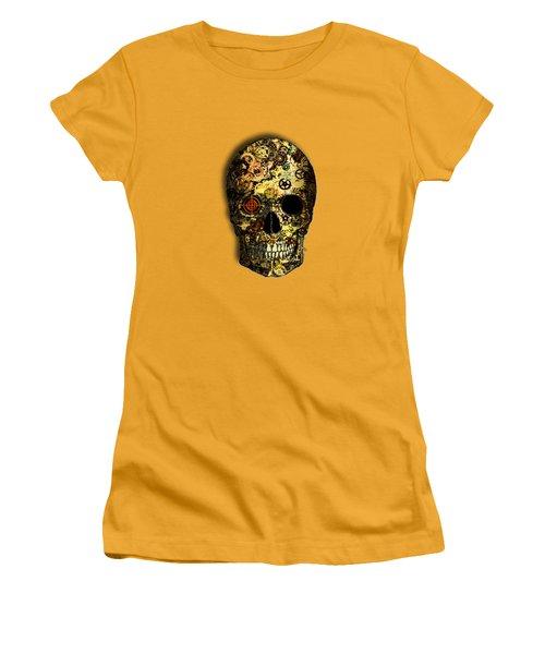 Women's T-Shirt (Junior Cut) featuring the digital art Skullgear by Iowan Stone-Flowers