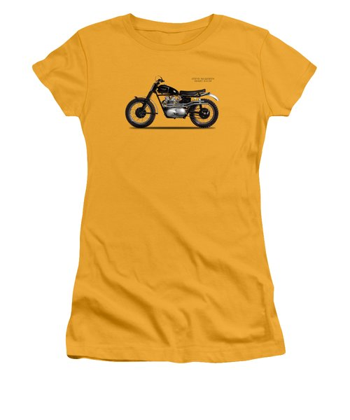 The Steve Mcqueen Desert Racer Women's T-Shirt (Junior Cut) by Mark Rogan