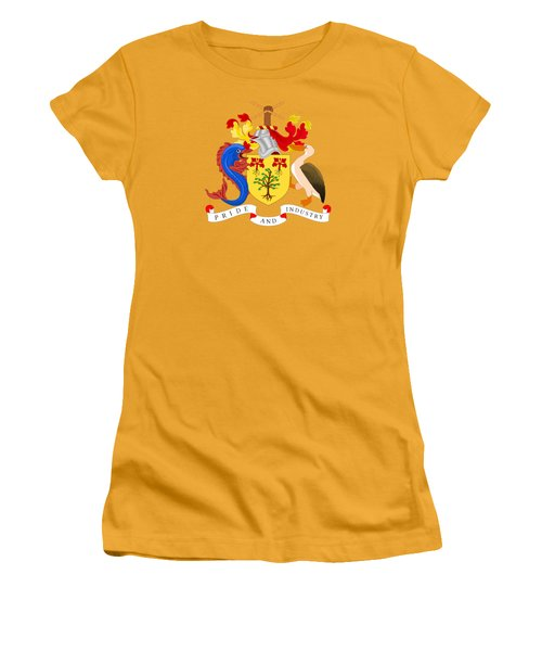 Barbados Coat Of Arms Women's T-Shirt (Junior Cut) by Movie Poster Prints