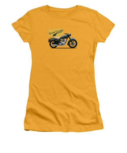 The Great Escape Motorcycle Women's T-Shirt (Junior Cut) by Mark Rogan