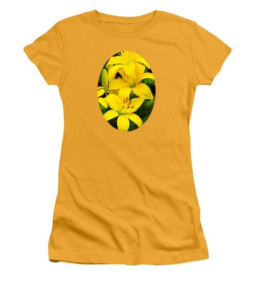 Yellow Lilies Women's T-Shirt (Junior Cut) by Christina Rollo