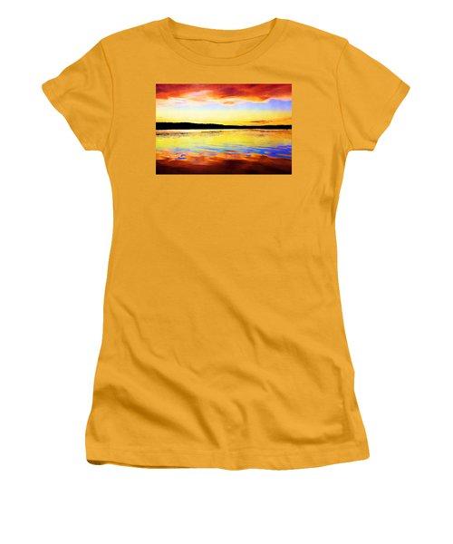 As Above So Below - Digital Paint Women's T-Shirt (Athletic Fit)