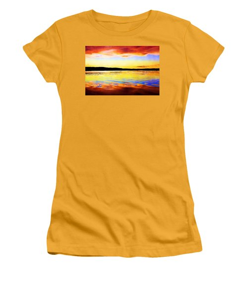 As Above So Below - Digital Paint Women's T-Shirt (Athletic Fit)