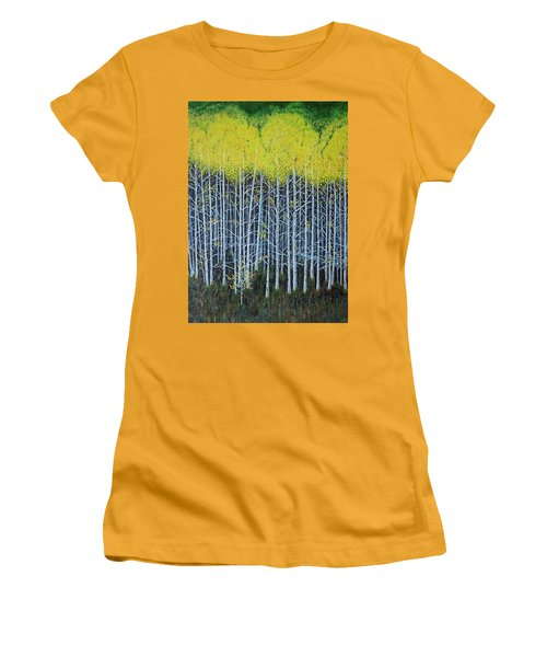 Aspen Stand The Painting Women's T-Shirt (Athletic Fit)