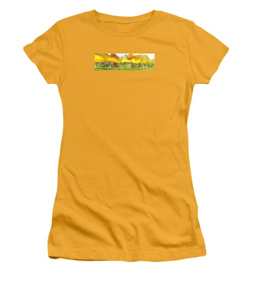 Aspen Trees In Autumn Women's T-Shirt (Athletic Fit)