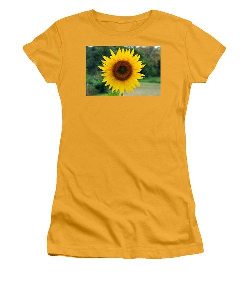 Women's T-Shirt (Junior Cut) featuring the photograph August Sunflower by Jeff Severson